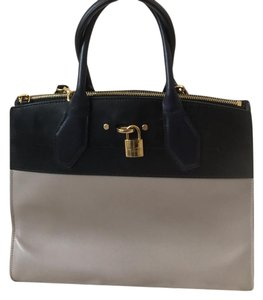 Louis Vuitton Tote in Blue Tan and Gold