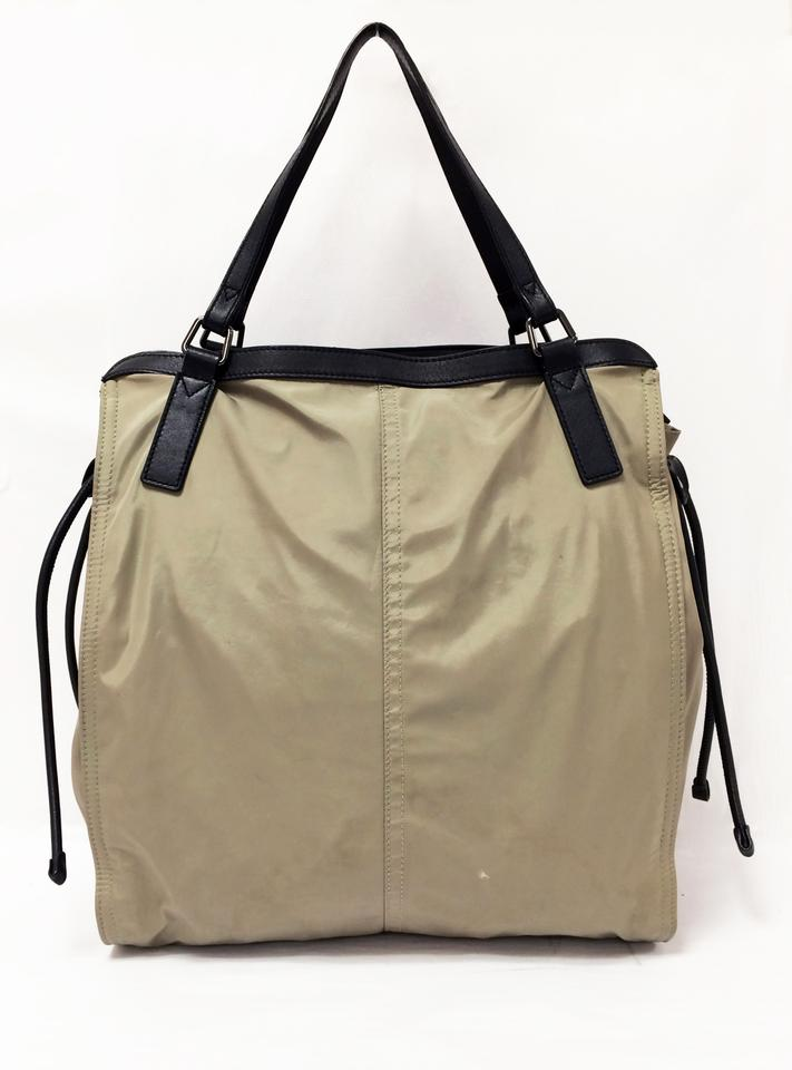 Burberry Leather Trim Small Packable Nylon Tote in Birch. 123456789101112 95c059894d6d3