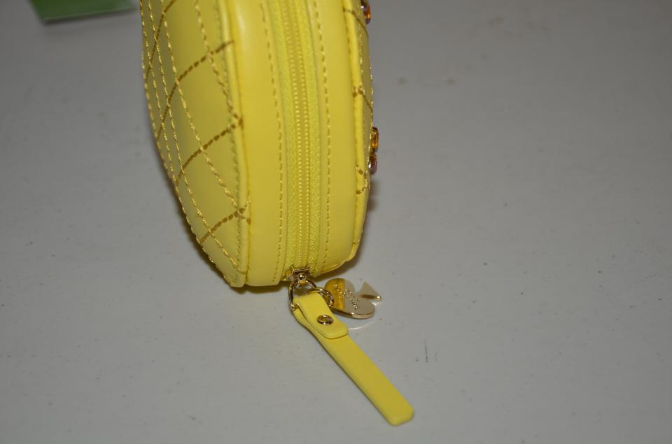 9ddae42231c3 Kate Spade How Refreshing Pineapple Coin Purse Yellow Green Leather ...