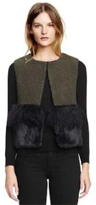 Tory Burch Fur Shearling Winter Fall Boucle Vest