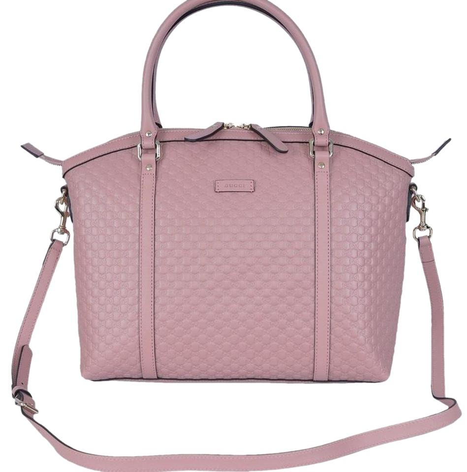 eae2473c8842 Gucci Dome ' Microguccissima ' Soft Pink Leather Satchel - Tradesy