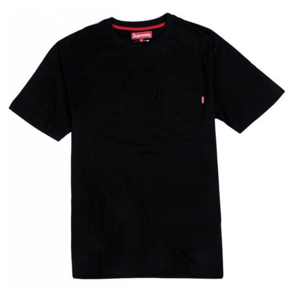 4d37b95e668e Supreme Black Pocket Medium Tag On Pocket Tee Shirt Size 8 (M) - Tradesy