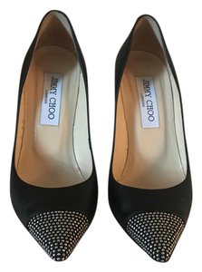 Jimmy Choo black with silver studs Pumps