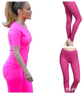 Chic Fashion Fuchsia Leggings