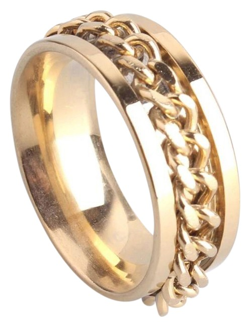 Item - Gold Link Chain Stainless Steal Ring