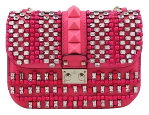 Valentino Rockstud Embellished Crystals Crystal Cross Body Small Chain Shoulder Bag