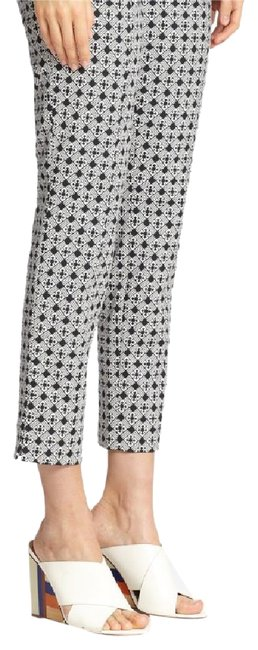Item - Black and White Jacquard Straight Leg Pants Size 10 (M, 31)