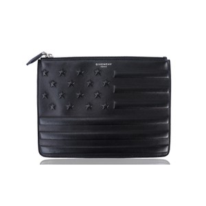 Givenchy Us Flag Leather Black Clutch