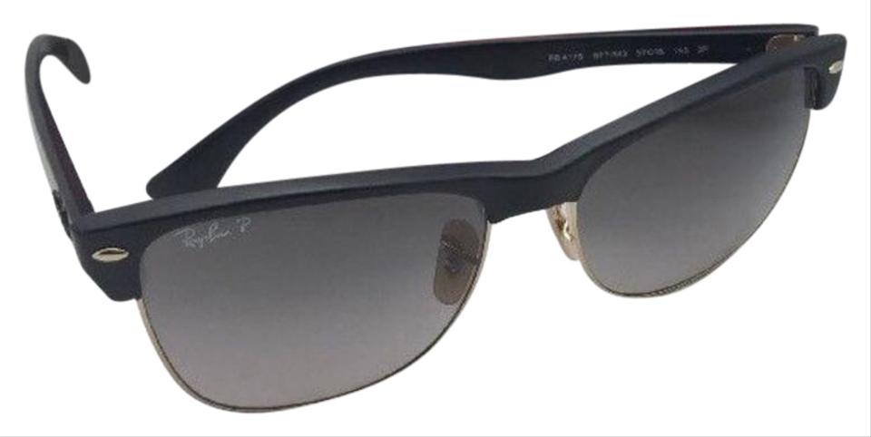 2b6ab7da3 Ray-Ban Polarized Ray-Ban Sunglasses CLUBMASTER OVERSIZED 4175 877/M3 Black  Image ...