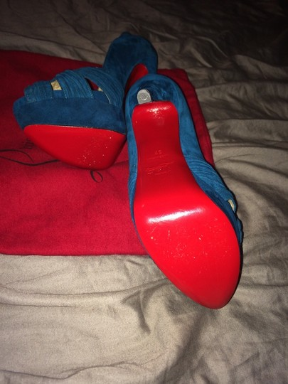 Christian Louboutin Teal Pumps Image 1