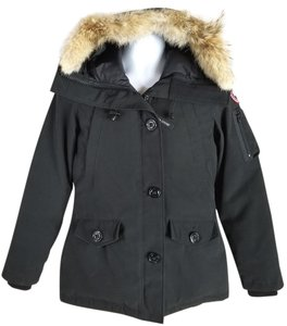 Canada Goose Two-way Zip Duck Down Insulation Front Pockets Military Styling Made In Fur Coat