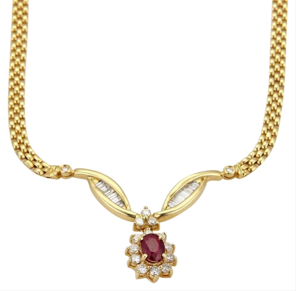 Yellow gold red ruby diamond 18k pendant panther chain link other ruby diamond 18k yellow gold pendant panther chain link necklace aloadofball Gallery