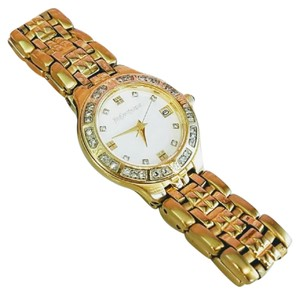 Saint Laurent YSL gold diamond white pearl women's high fashion watch