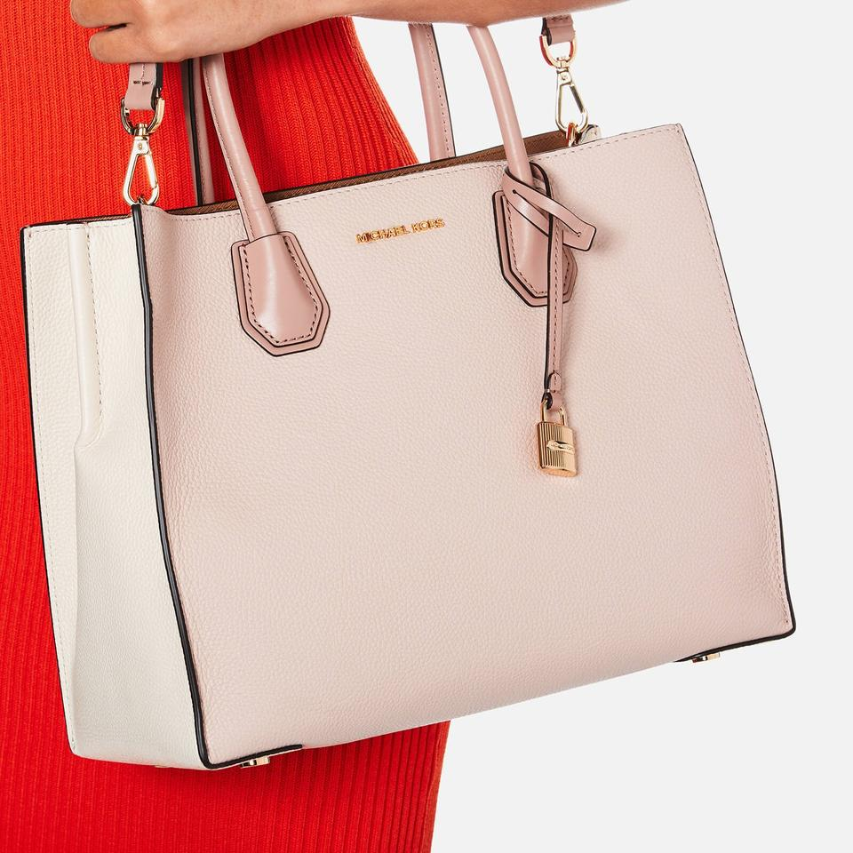 bf0b38cf0f3eca Michael Kors Studio Mercer Large Convertible Soft Pink/Ecr/Fawn Leather Tote  - Tradesy