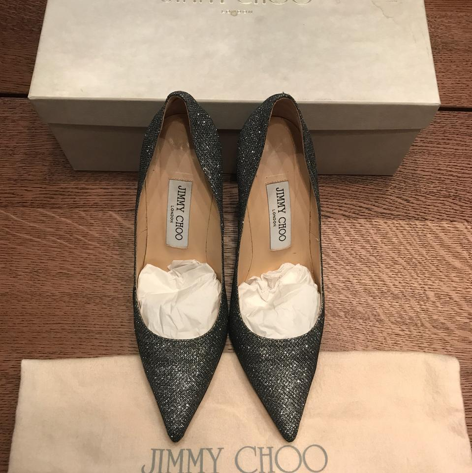 4427757dc97 Jimmy Choo Anthracite Abel Lamé Glitter Pointy - Pumps Size US 6.5 Regular  (M