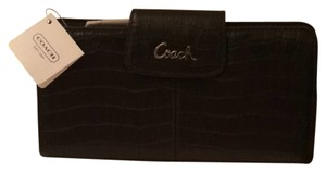 Coach COACH Ashley Embossed Crocodile Leather Wallet