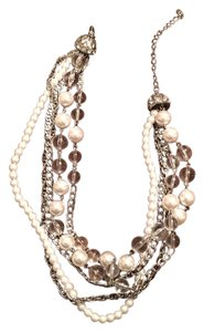Premier Designs Sterling Silver & Pearl Necklace
