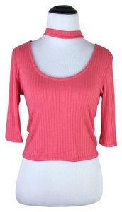See You Monday Top coral dark pink