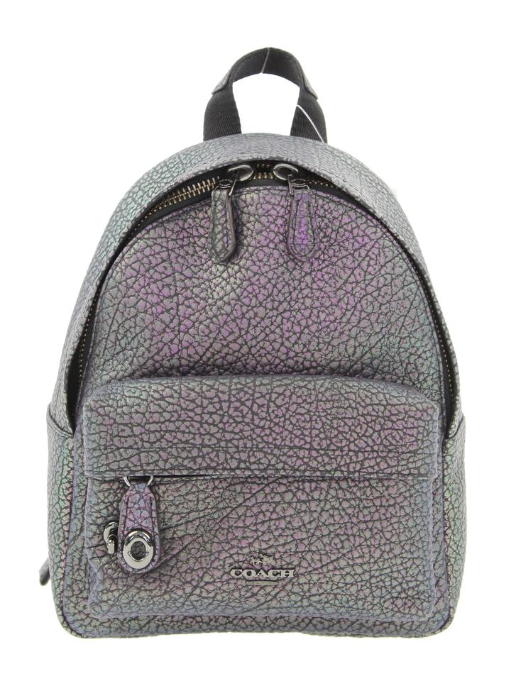 03a3d3b2af Coach Campus Hologram Mini Black Leather Backpack - Tradesy