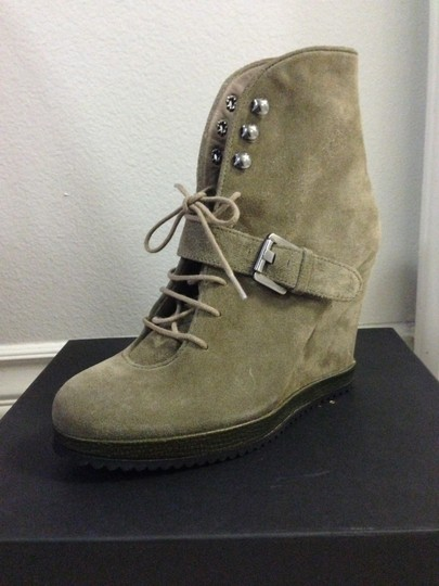 Surface to Air Leather Wedge Ankle taupe suede Boots Image 1