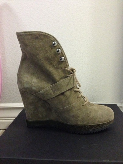Surface to Air Leather Wedge Ankle taupe suede Boots Image 3