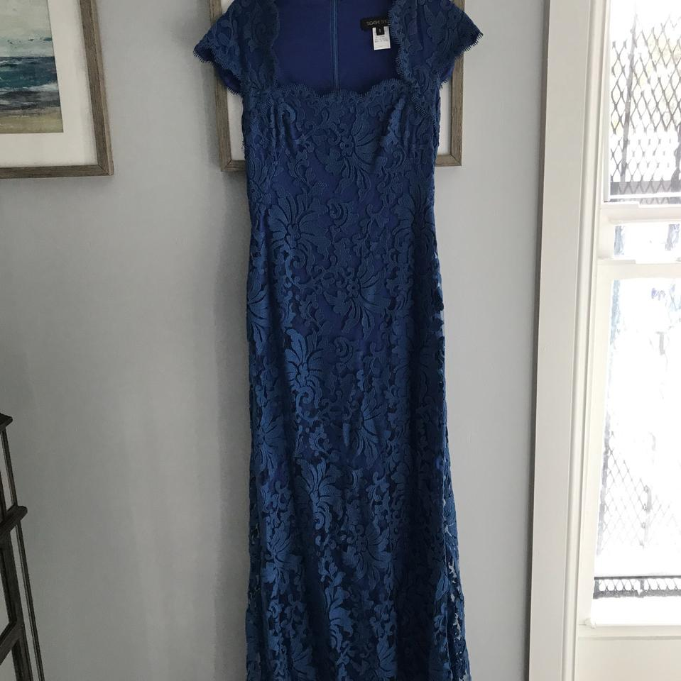 Tadashi Shoji Royal Blue Lace Evening Gown Formal Dress