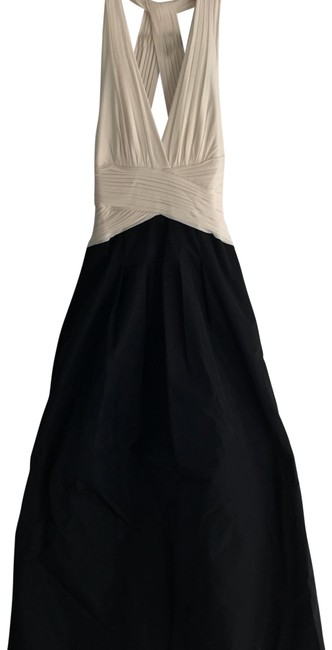 Item - Black and Ivory Evening Gown Long Formal Dress Size 6 (S)