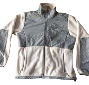 The North Face white with gray accents Jacket