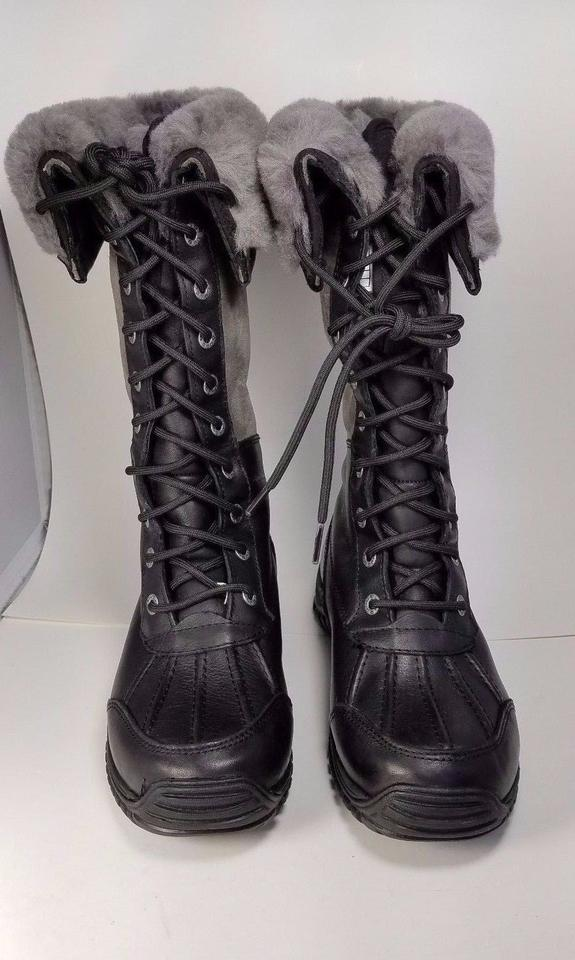 f269ae46863 UGG Australia Black/ Gray Adirondack Tall Lace Up Boots/Booties Size US 5  Regular (M, B) 63% off retail