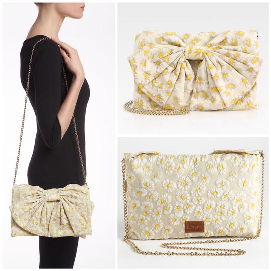 Valentino Chain Gold Embroidered Beaded Shoulder Bag Image 2