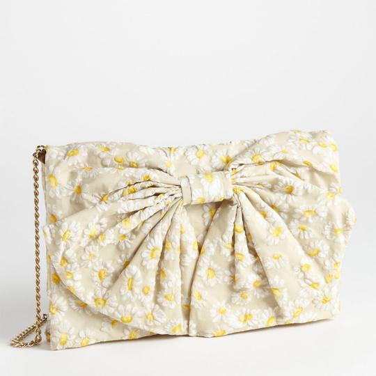 Valentino Chain Gold Embroidered Beaded Shoulder Bag Image 3