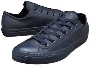 Converse Leather Sneakers Navy Blue Athletic