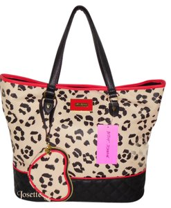 Betsey Johnson Coin Purse Tote in ANIMAL PRINT