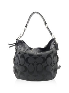 Coach Canvas Monogram Hobo Bag