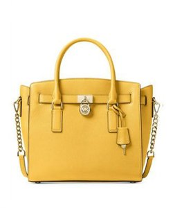Michael Kors Studio Hamilton East West Tote Satchel in sunflower yellow