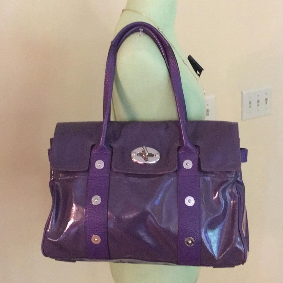 1e876024c3b Mulberry Bayswater Purple Patent Leather Satchel - Tradesy