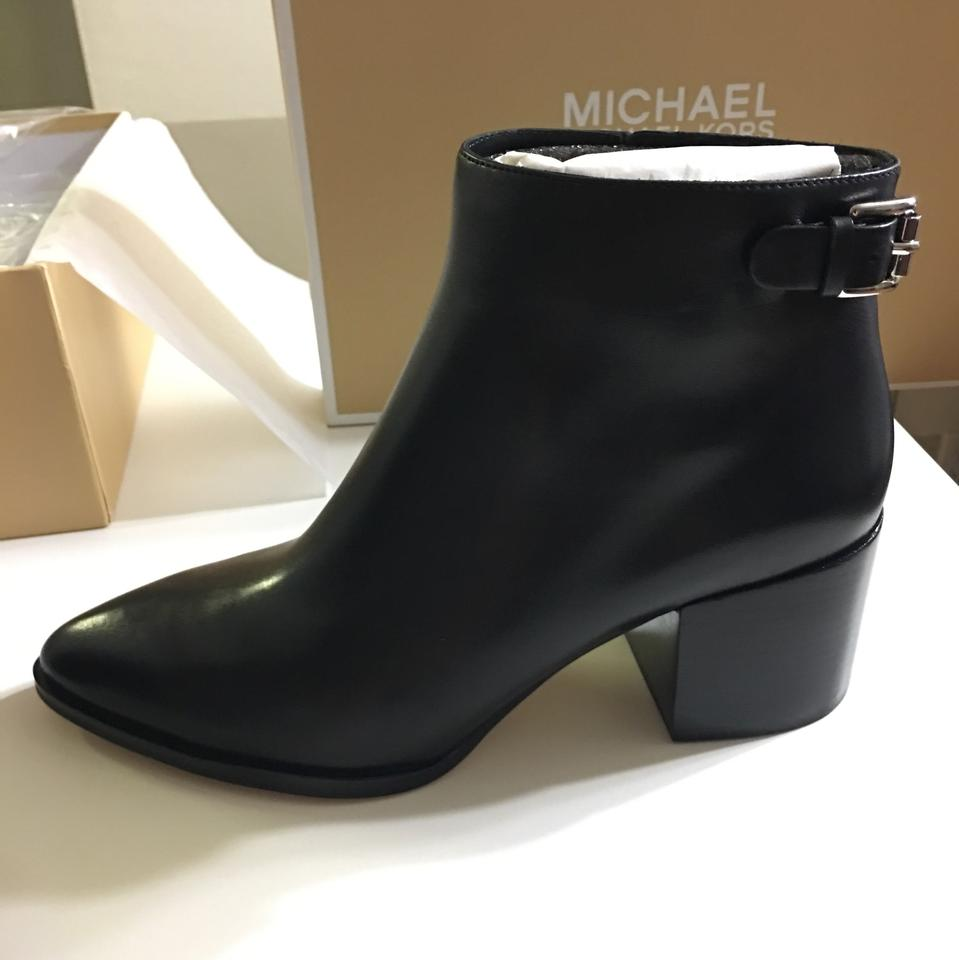 72123a966d9 Michael Kors Black Saylor Leather Ankle Boots/Booties Size US 8.5 Regular  (M, B) 57% off retail