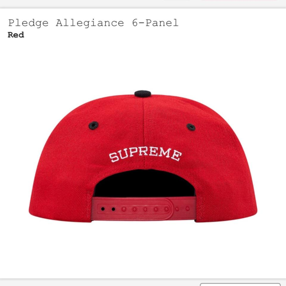 60c76808d2182 Supreme Red and Black Pledge Allegiance To Cap Hat - Tradesy
