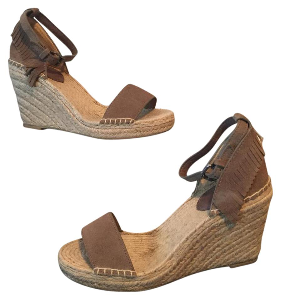 559ca098126 Frye Grey New Lila Feather Espadrille Wedges Size US 6.5 Regular (M, B) 60%  off retail