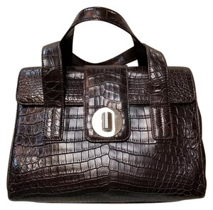 Tiffany & Co. Crocodile Satchel in Brown
