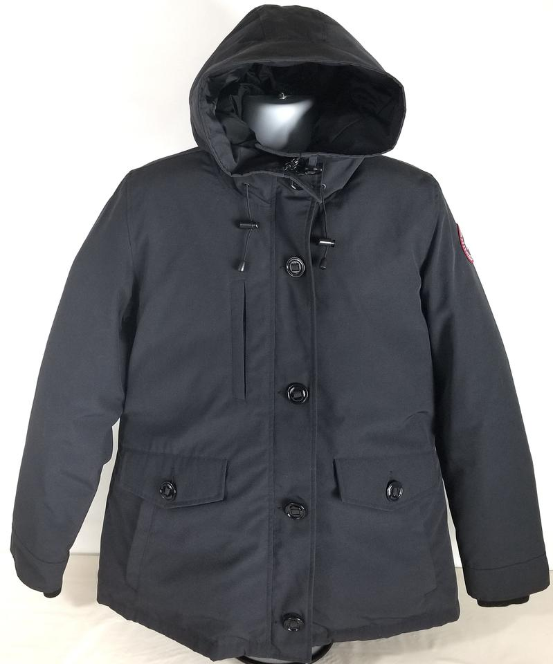 Canada Goose Navy Marine 'rideau' Slim Fit Down Parka 3800l Coat Size 16 (XL, Plus 0x)