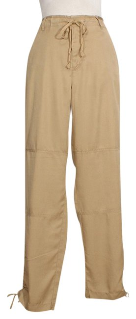 Item - Tan Tencel Drawstring Ankle Skinny Pants Size 16 (XL, Plus 0x)