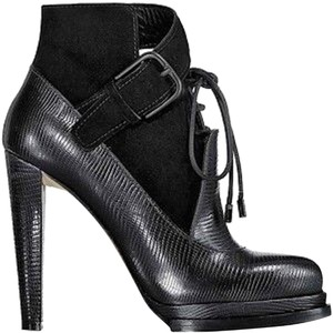 Alexander Wang Monique Python Embossed Black Boots