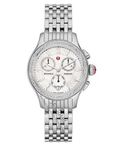 Michele Extra 20%OFF Jetway Diamond Mother Of Pearl Dial Chronograph Watch