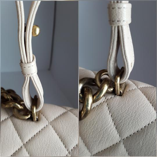 Chanel Trapezio Shoulder Satchel in Beige Image 11