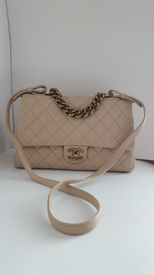 Chanel Trapezio Shoulder Satchel in Beige Image 2
