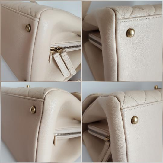Chanel Trapezio Shoulder Satchel in Beige Image 4