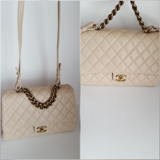 Chanel Trapezio Shoulder Satchel in Beige Image 5