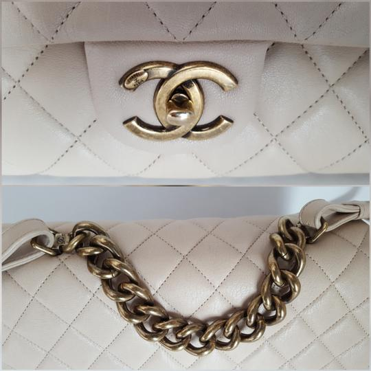 Chanel Trapezio Shoulder Satchel in Beige Image 6
