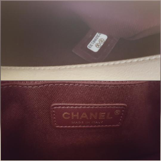 Chanel Trapezio Shoulder Satchel in Beige Image 7